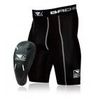 Компрессионные шорты с ракушкой BAD BOY Defender 2.0 Shorts & Cup