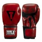 Перчатки тренировочные TITLE Blood Red Leather Sparring Gloves