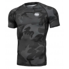 Рашгард PIT BULL All Black Camo Small Logo - Short Sleeves