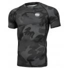 Рашгард PIT BULL All Black Camo Small Logo - Short Sleeves