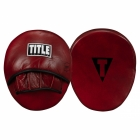 Лапы TITLE Boxing Blood Red Leather Punch Mitts