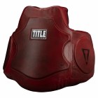 Пояс тренера TITLE Boxing Blood Red Leather Body Protector